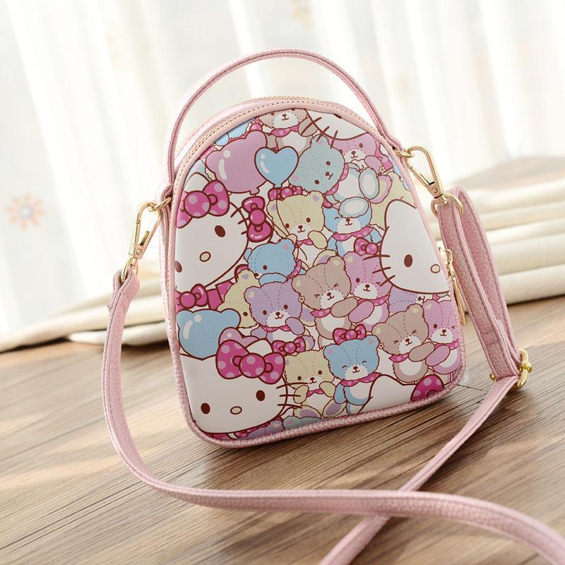 Hello Kitty Childrens Bag Princess Small Shoulder Cute Korean Style Big Boy Female One-Shoulder Fashion Cartoon Trendy Bag