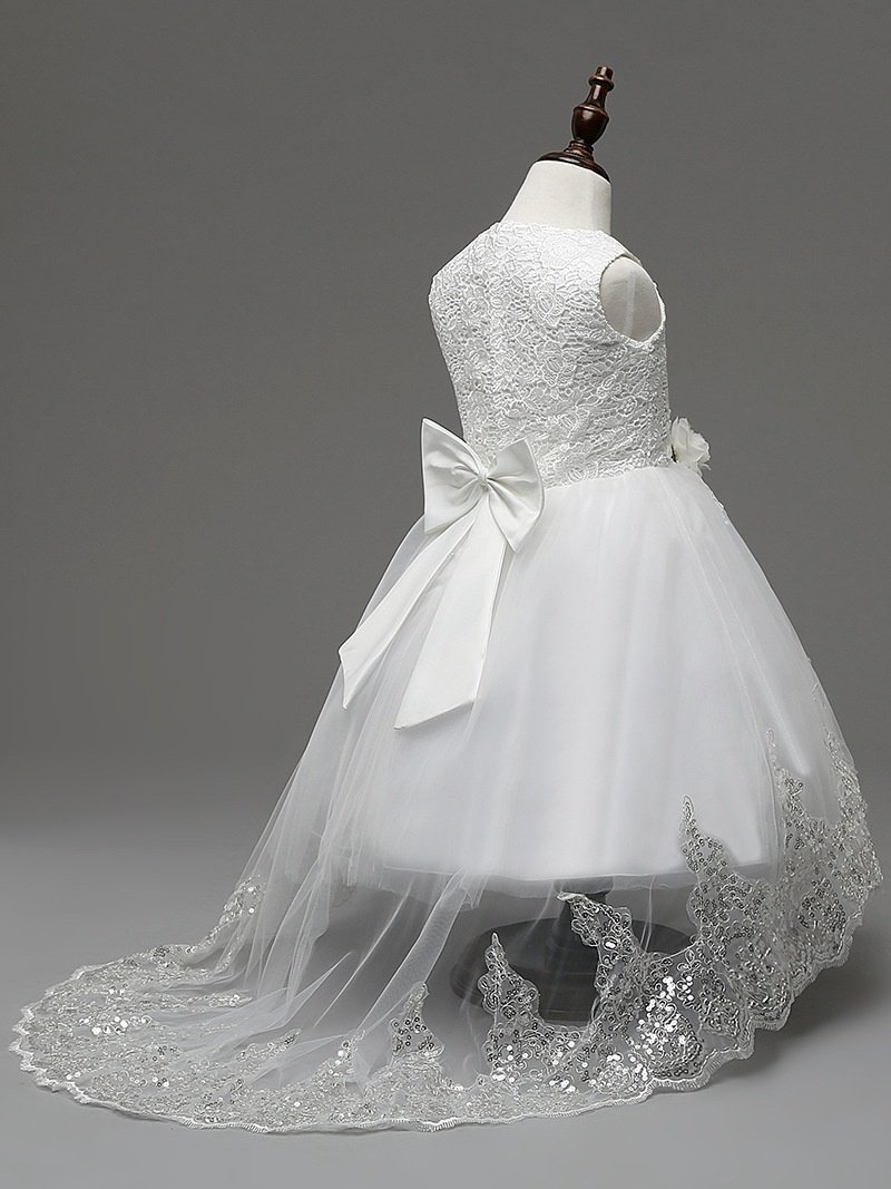 793862130 Fancy Flower Girls Dress Floor Length Ball Gown Sequin Lace Kids ...