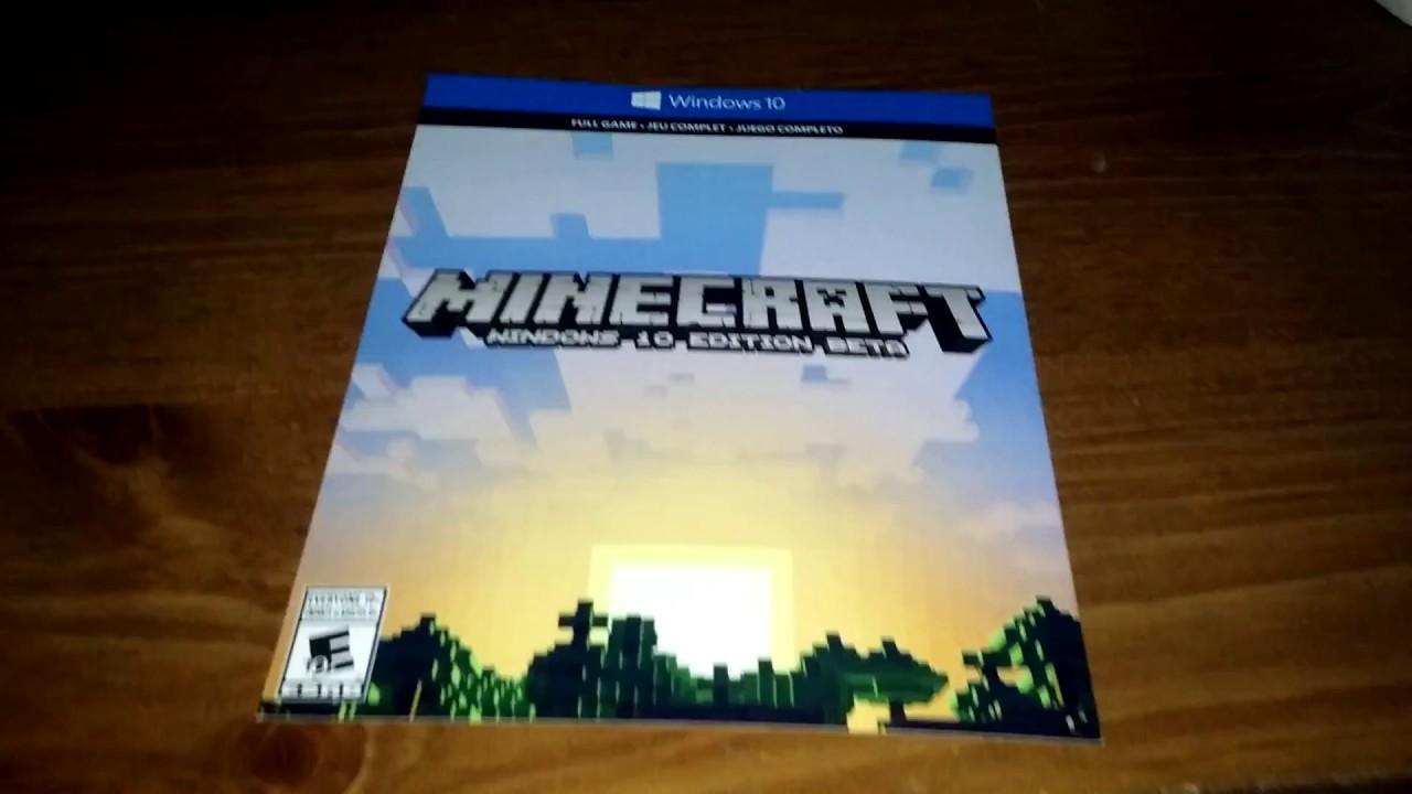 Minecraft Windows 10 Edition Redeem Code