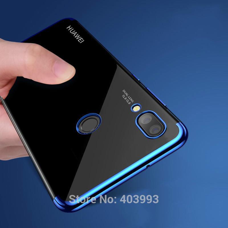 Casing untuk Huawei Nova 3i Ultra Tipis Lembut Silikon Case (Biru)