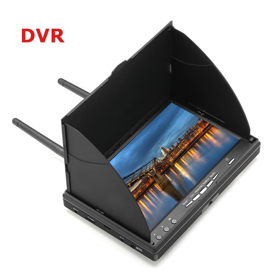 Star Mall LCD5802D 5802 5.8G 40CH 7 Inch FPV Monitor with DVR Build-in Battery
