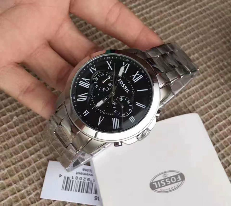Fossil Dean Chronograph Black Dial Stainless Steel Mens Watch Fs4542 Fs4736 Grant