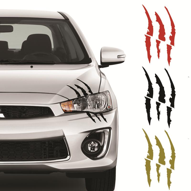 Tiger claw scratch vinyl car sticker decal waterproof black