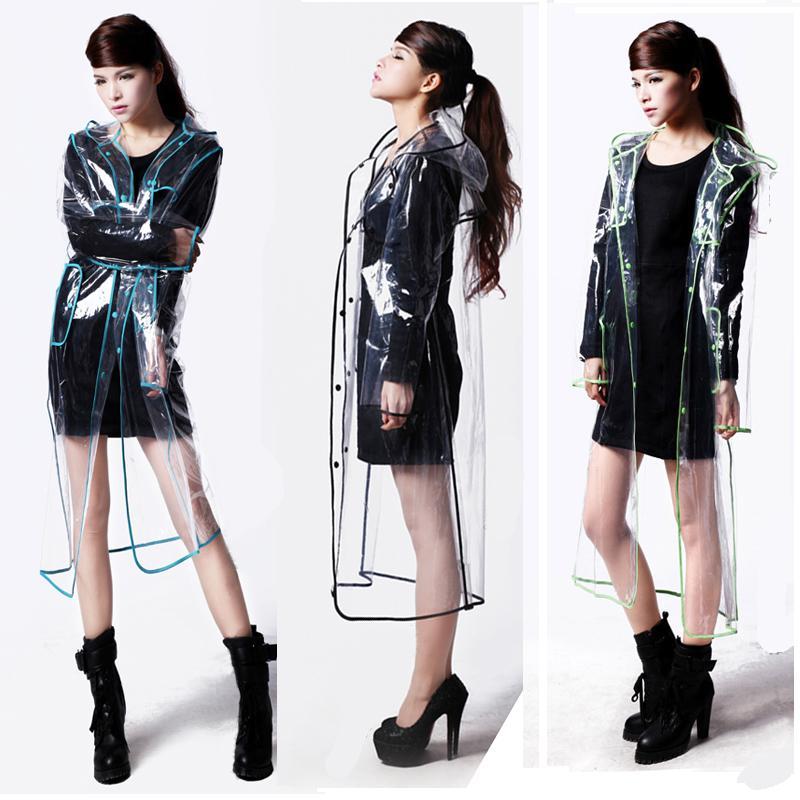 Jepang modis transparan Jas hujan Pria dan Wanita model pasangan Lembut Jas hujan Luar rumah Berhanyutan eva mantel model panjang fotografi