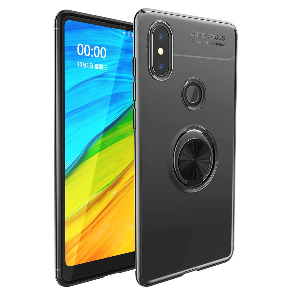 Lenuo Magnetic Car Holder Case for Xiaomi Mi Mix 2S Mix color ring bracket back cover