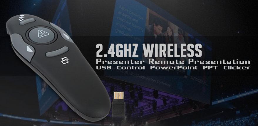 morganstar 2 4ghz wireless presenter remote presentation usb control