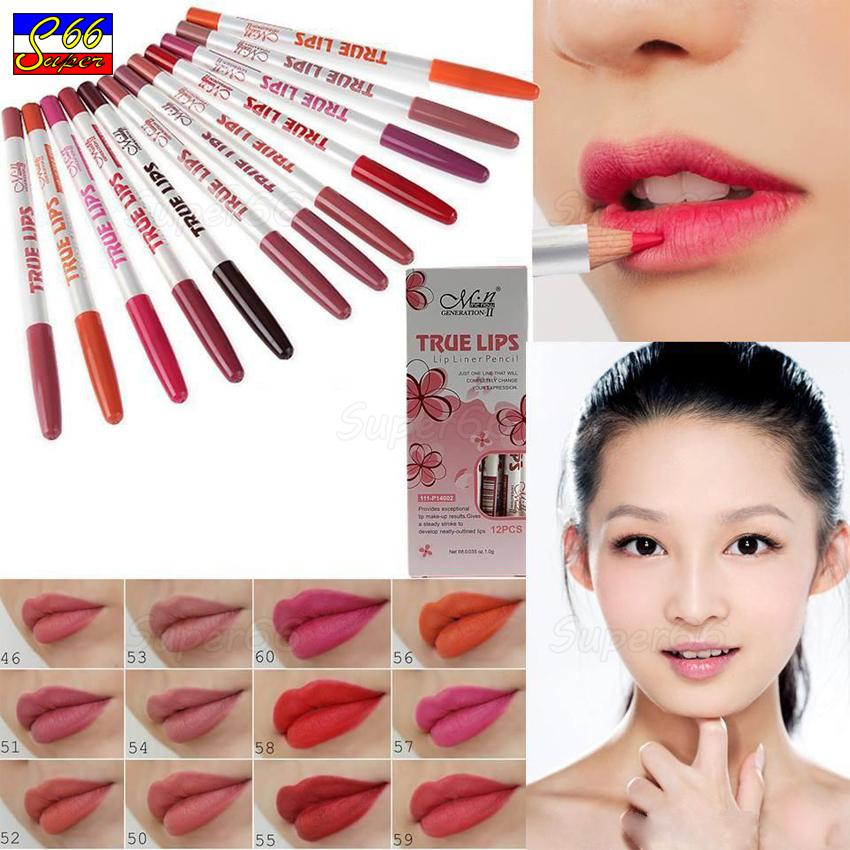 Menow Gen II True Lips Lip Liner Pencil Set (12 pcs) Philippines