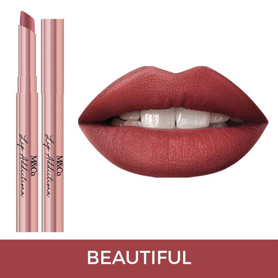 M&Co.Cosmetics LIP ADDICTION Creamy Matte Lipstick - Beautiful Philippines