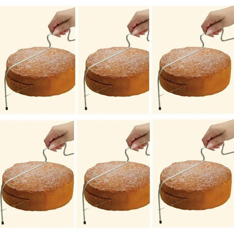 Kawat Yang Dapat Disesuaikan Alat Pengiris Kue Pemotong Sama Rata Alat Penghias Roti Kawat Alat Dekorasi