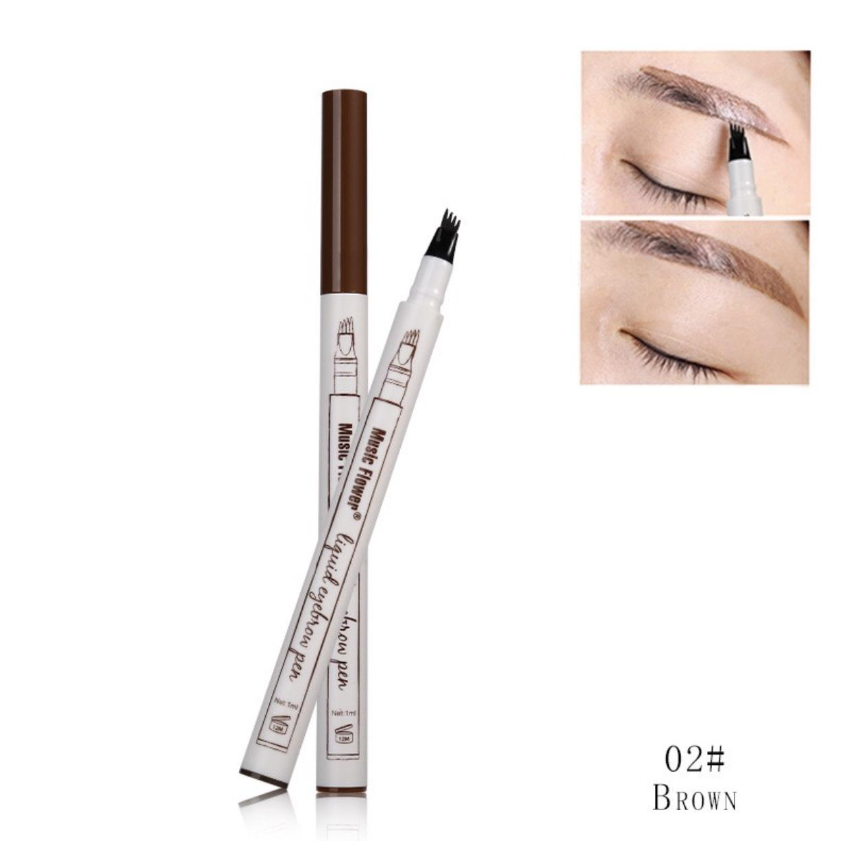 Music Flower #2 Brown Chestnut Eyebrow Pen Waterproof-Edison Online Shop Philippines