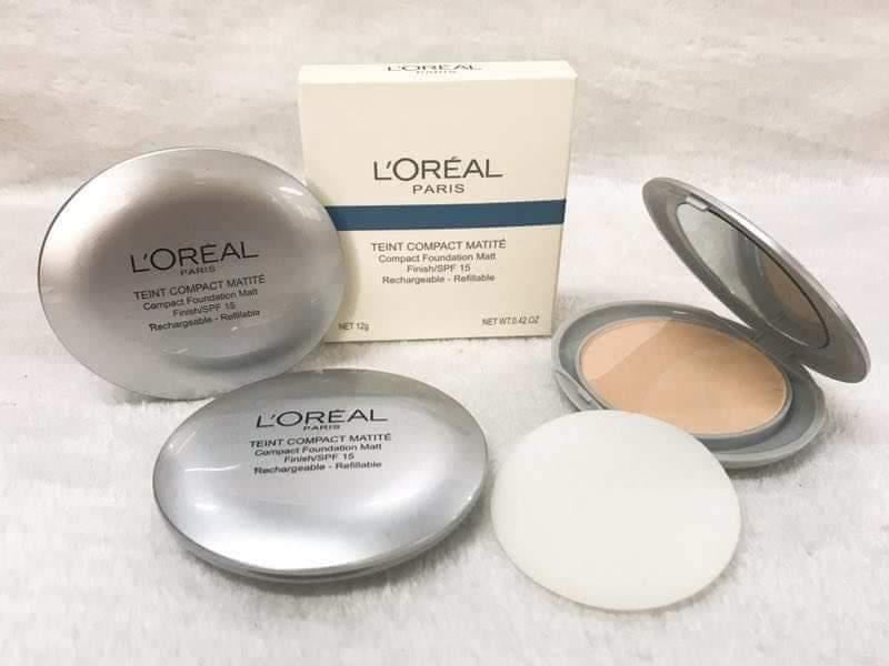 LOREAL Single layer of powder cake, with mirror and puff Philippines