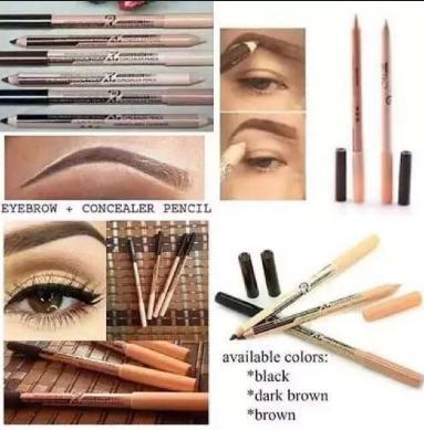 COD Hot Sale 2 in 1 Eyeliner Eyebrow Concealer Pen Light Brown Philippines