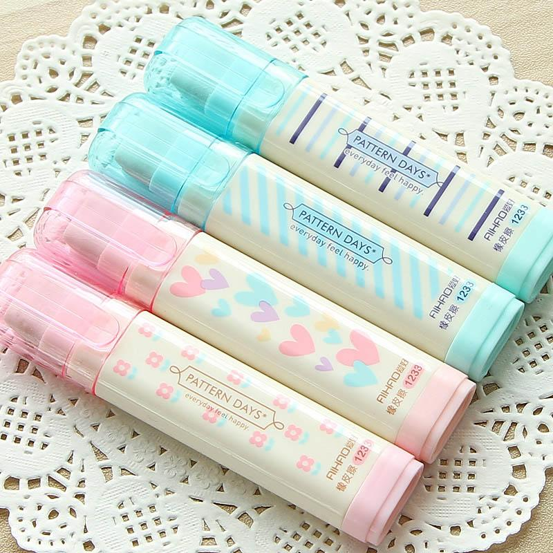 Mua 2pcs Cute Kawaii Heart Flower Rubber Erasers Lovely Stripe Pencil Eraser For Kids Gift Korean Stationery - intl
