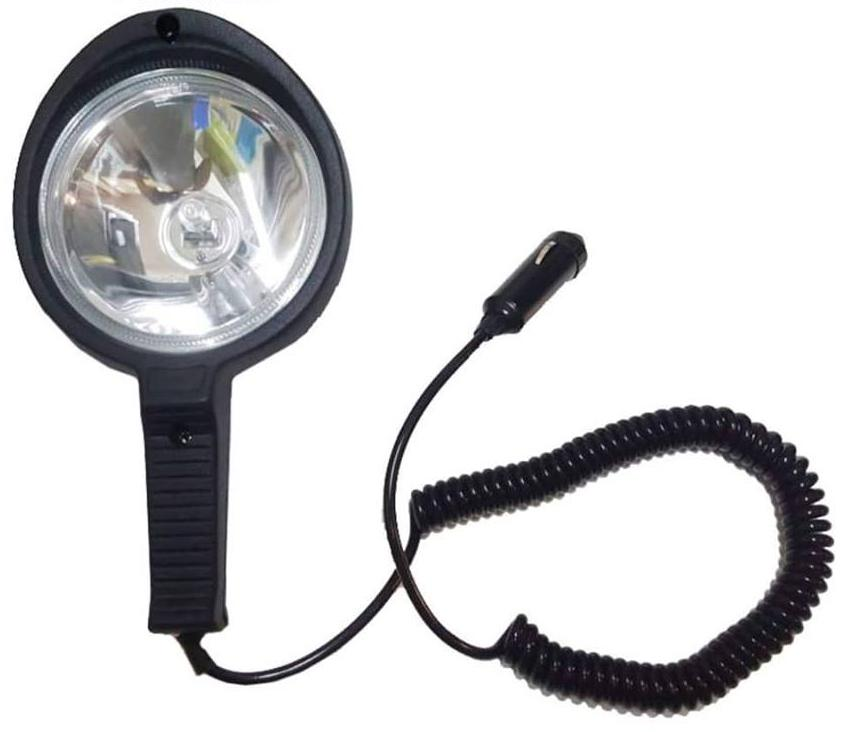 Hand Held Spot Lamp - Black Body - Long Range 12 Volts H3 Halogen 55W Bulb Philippines