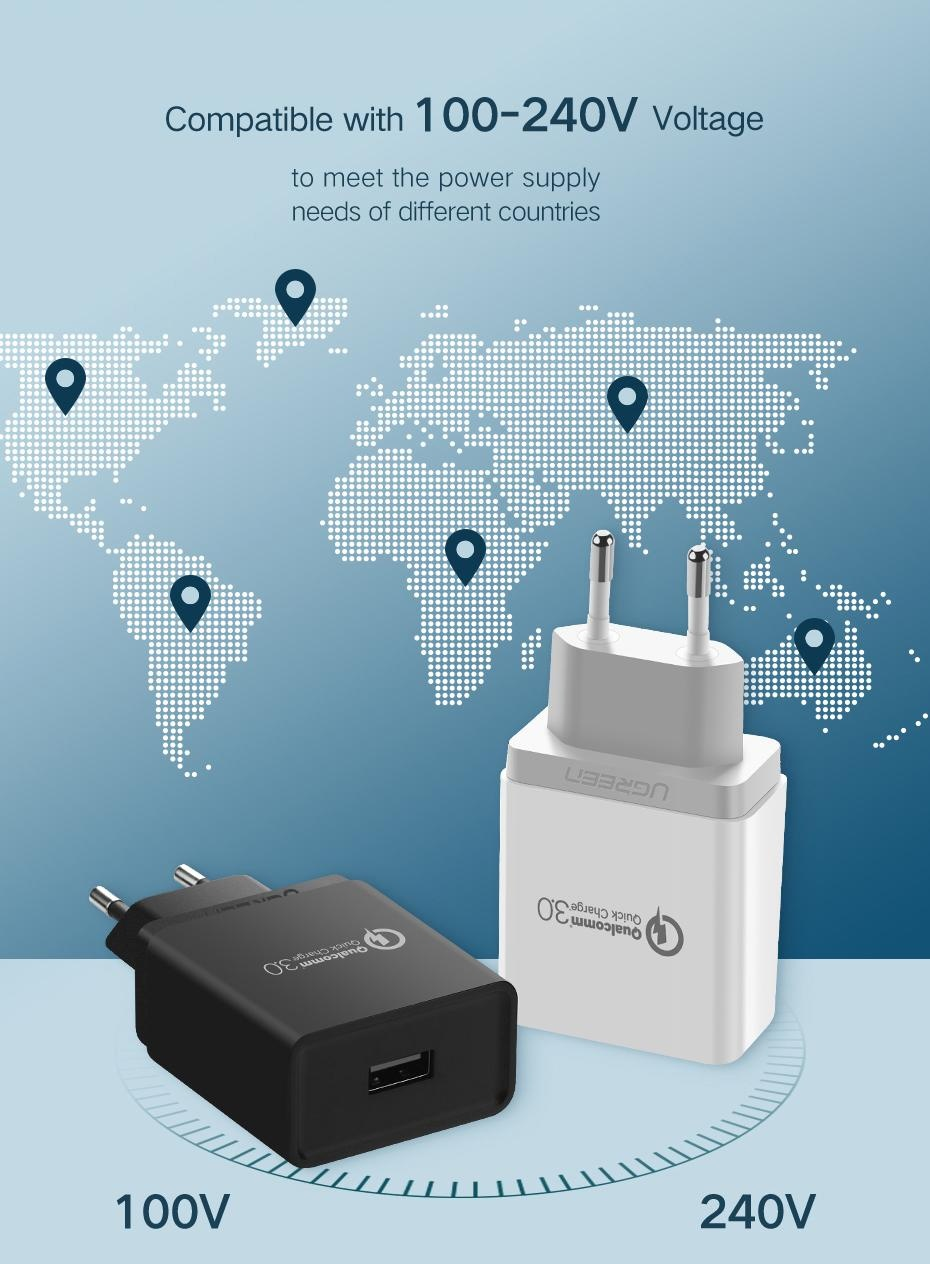 Ugreen Quick Charge Qc 30 Usb Wall Charger 18w Fast Rapid Htc Desire C Circuit Diagram Product Description