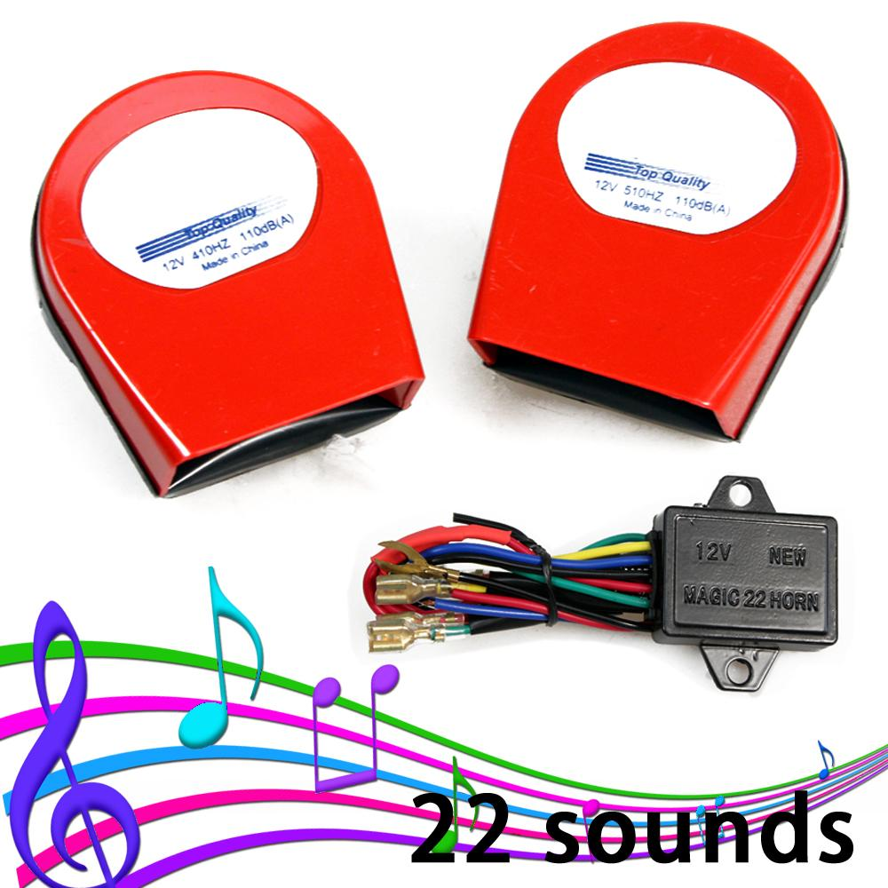 Car Horns For Sale Horn Sound Online Brands Prices Reviews Mkt Wiring Diagram 12v Motorcycle 22 Sounds Magic Twin Red High Low 110db