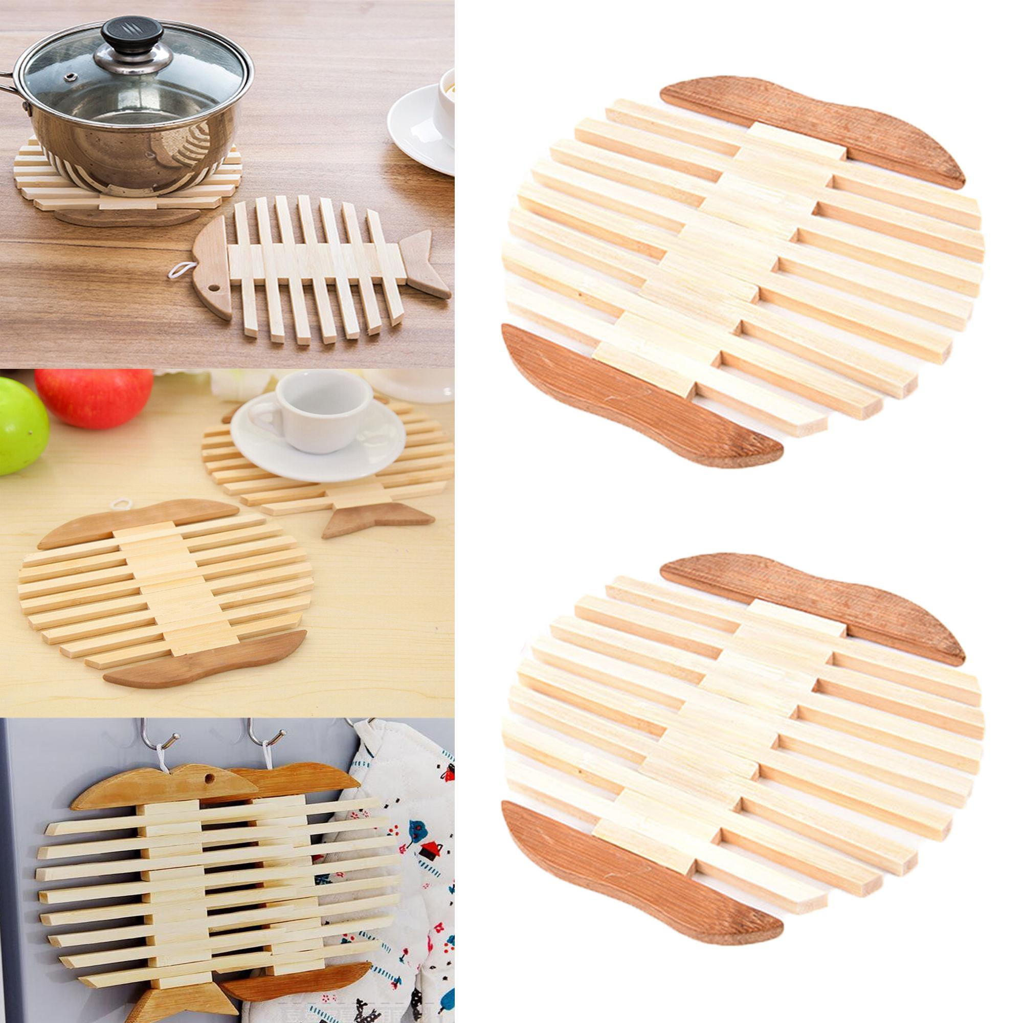 c2daf51d1e5 BUY 1 TAKE 1 Bamboo Heat Resistant Pan Apple Shaped Mats Coaster Pot Mat  Holder Kitchen