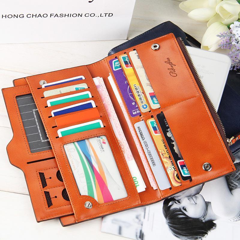 ... 2018 model baru dompet wanita model panjang Gaya Korea ritsleting multifungsi tas ponsel tas tangan Dompet