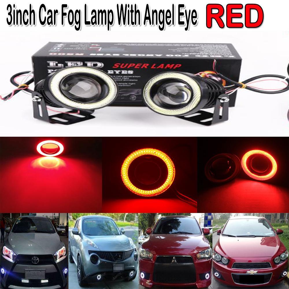 CHEER 2 Pcs 12V 18 LED Round Car Fog Lamp Driving Running Light Bright WhitePHP748. PHP 749