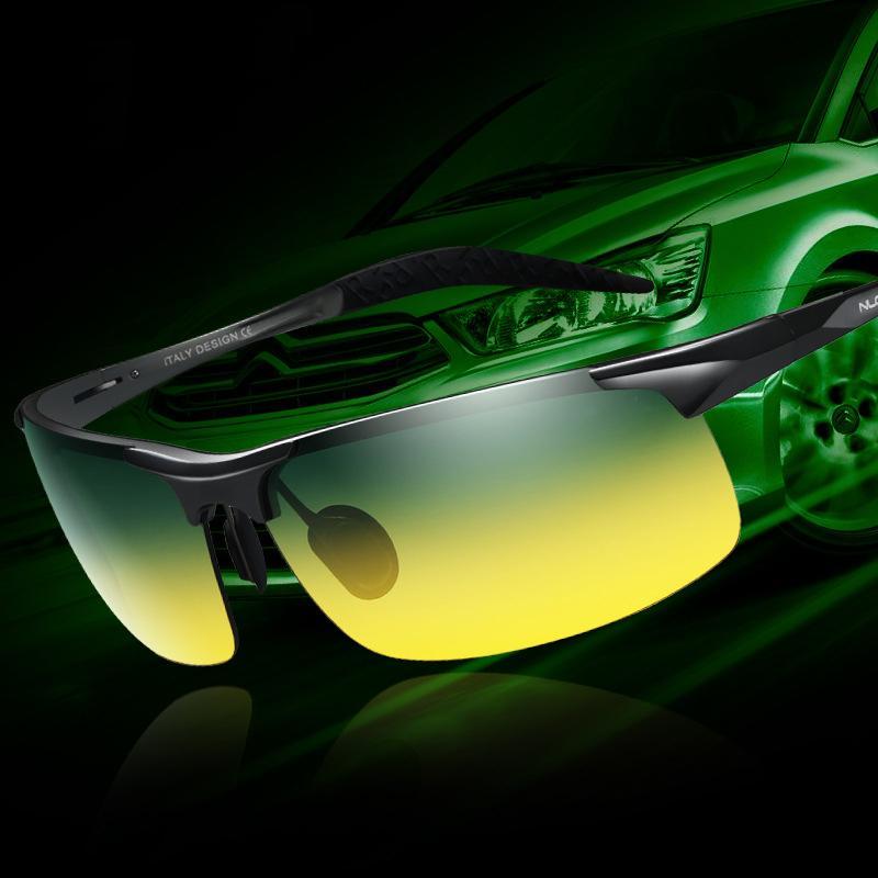e1448960d98b Product details of AORON Day & Night Vision Goggles Mens Driving Polarized  Brand Sunglasses Car Driver Glasses Anti-glare Light Aluminum Magnesium  Alloy ...
