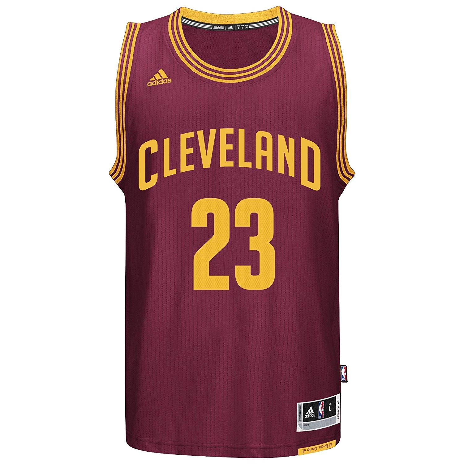 reputable site c1798 dad8f Offical Men's NBA Cleveland Cavaliers Black Basketball Jersey LeBron James  #23