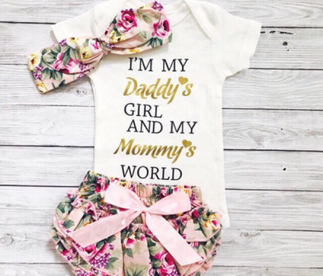 Baby I'm my Daddy's Girl OOTD 3pcs set