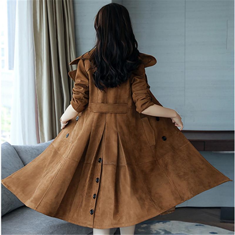Model Panjang Lewat Lutut Model Musim Gugur Jaket Angin Perempuan 2017 Model Setengah Panjang Elegan Membentuk Tubuh Ala Inggris Musim Gugur Model Baru Baju Wanita Jaket Tipis By Koleksi Taobao.