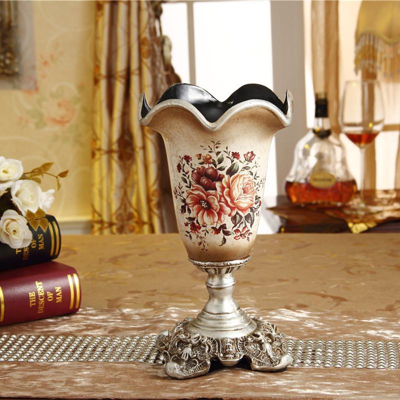 Creative Vintage Resin European Style Vase Decoration 58 Decorations Living Room Table Flower Arrangement Dried Flower Desktop Flower Holder
