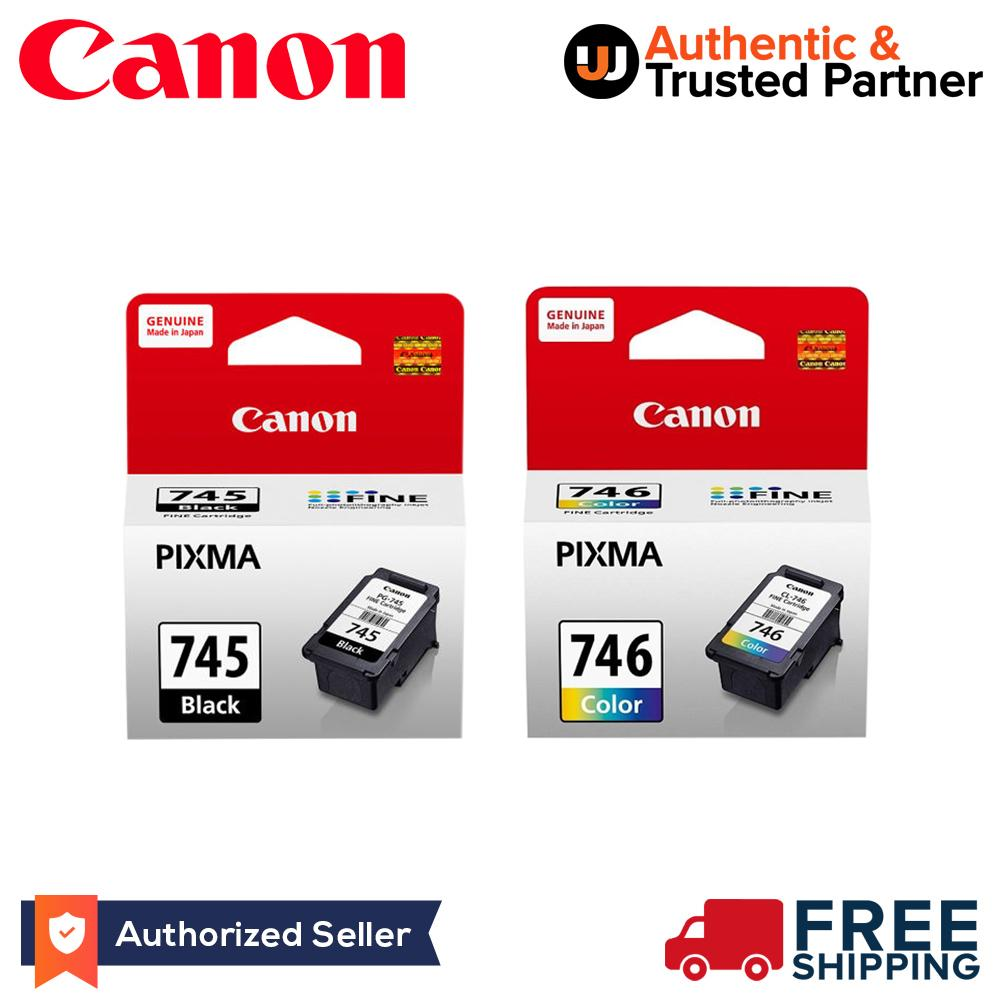 Canon PG 745 CL 746 Genuine Ink Cartridge Combo Bundle Black