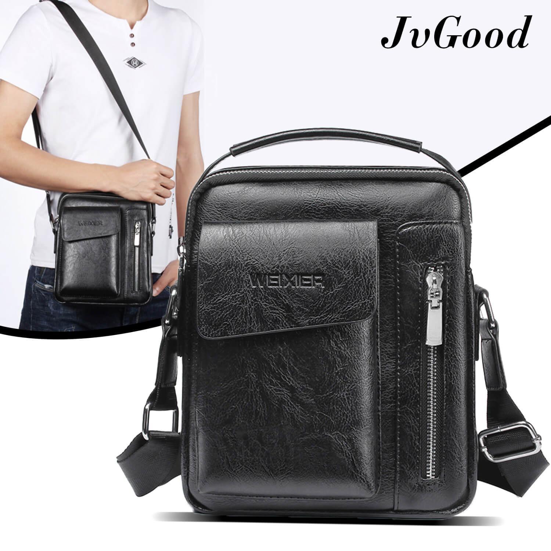Tas Messenger Pria Murah Terbaik Xiaomi Shoulder Crossbody Bag Selempang Ransel Original Jvgood Pu Leather Sling Male Travel Casual
