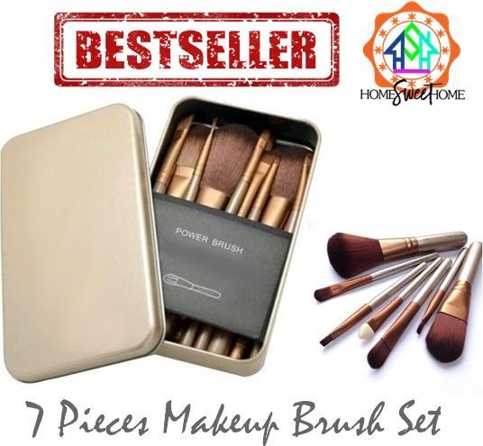 7pcs Portable Make up Brush Set with tin case Philippines