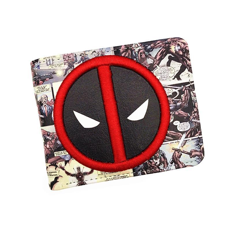 Seksi Jual Baru Tiba PVC dan Pu Kulit Dompet Komik Amerika Deadpool Dompet dengan Pemegang Kartu Dolar Harga Pengiriman Gratis -Internasional