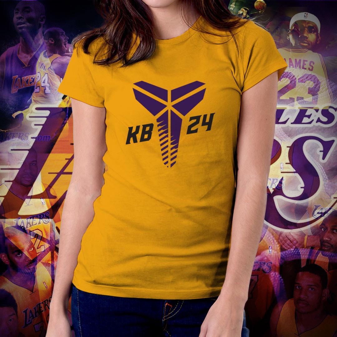 NBA Sports Basketball Team Los Angeles Lakers T-shirt for Women - LA Lakers  GOAT bde0311c2c