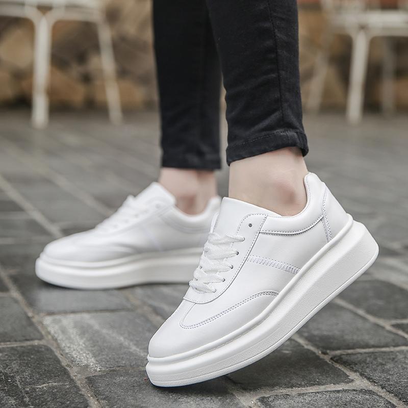 ... Sepatu pria musim dingin sepatu trendi 2018 model baru sepatu putih  kecil pria Gaya Korea pasangan ... 1ad206227b