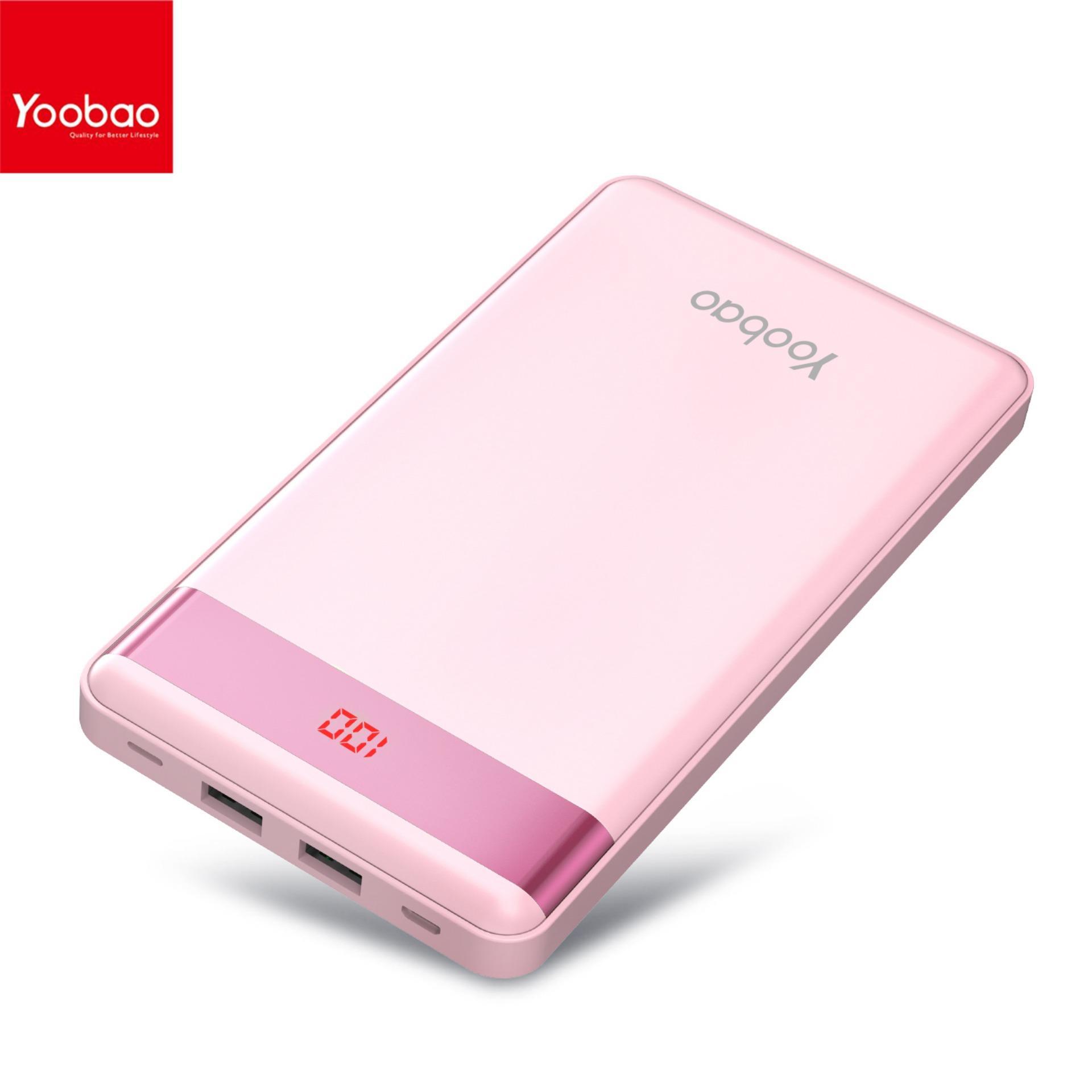 YOOBAO P L Ultra Thin mAh Power Bank Pink