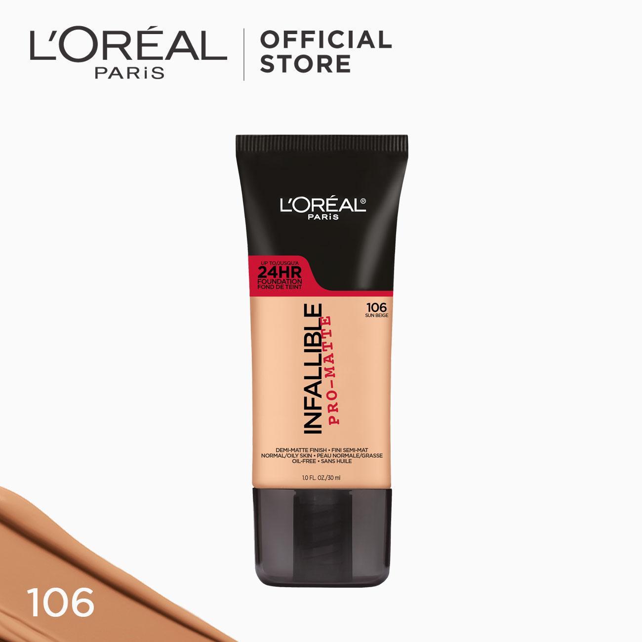 Infallible Pro-Matte Liquid Foundation - 106 Sun Beige [#NeverFail 24HR Longwear] by LOréal Paris Philippines