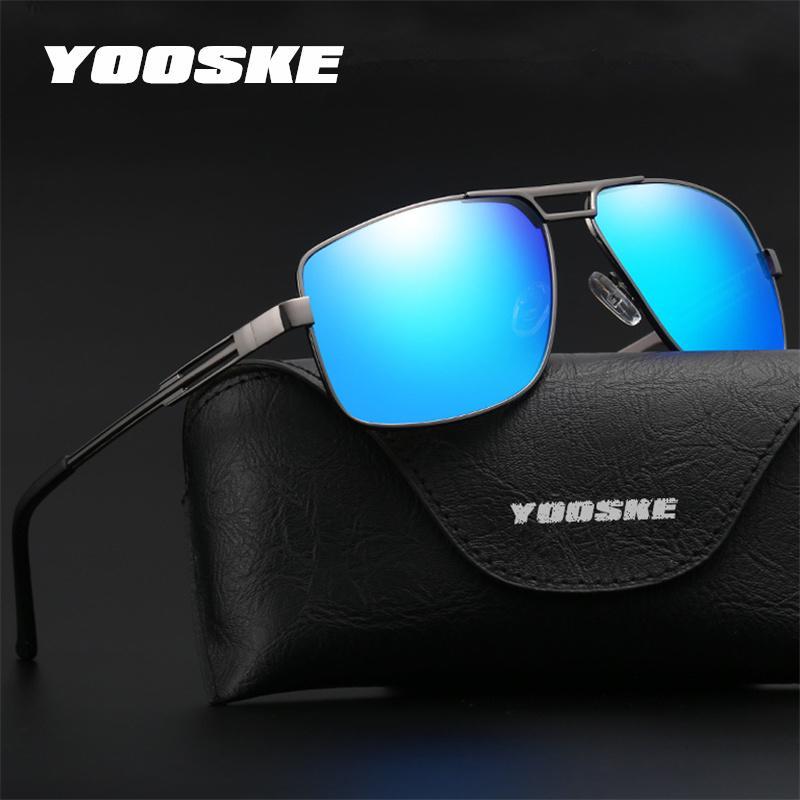 Yooske Merek HD Terpolarisasi Kacamata Pria Desain Baru Memancing Mengemudi Matahari Kacamata Retro Antik Paduan Bingkai