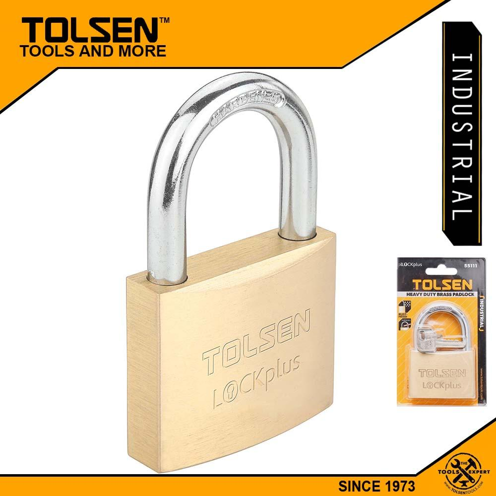 Tolsen Industrial Grade Brass Padlock Rust Proof w/ 3 Keys (50mm 282g) Lock Plus 55115 Philippines