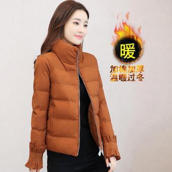 Pencari Harga 2018 pakaian musim dingin model baru baju katun wanita model  pendek Bulu angsa pakaian katun Lebih tebal Gaun bulu Gaya Korea membentuk  tubuh ... 6e2d255459