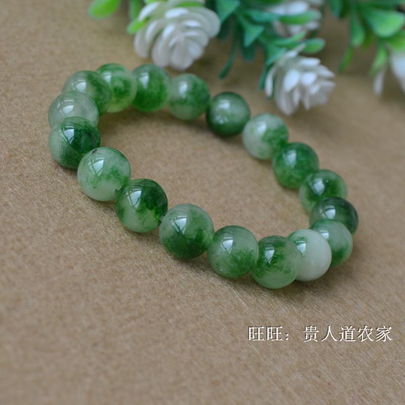 Alami Batu Giok gelang 寒玉/mengambang bunga giok/Jade kuning/Bubuk kristal