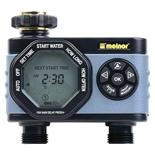 Melnor 53100 2-Outlet Digital Water Timer, Simple And Flexible Programming, Easy Manual Override, Independent Start Time For Each Valve By Galleon.ph.