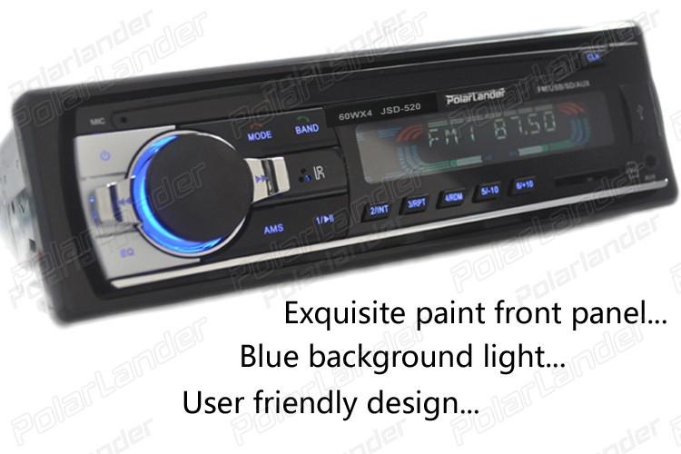 EsoGoal Mobil Stereo nirkabel bluetooth Digital Media Single - Din di Dash Receivers USB / SD