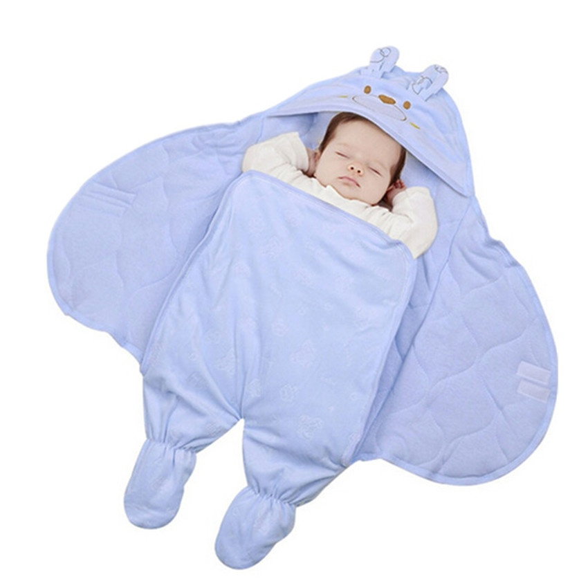 BABY GIRLS INFANTS WRAP COMFORT PRAM//STROLLER BLANKET BLUE PINK 75 X 75 cm
