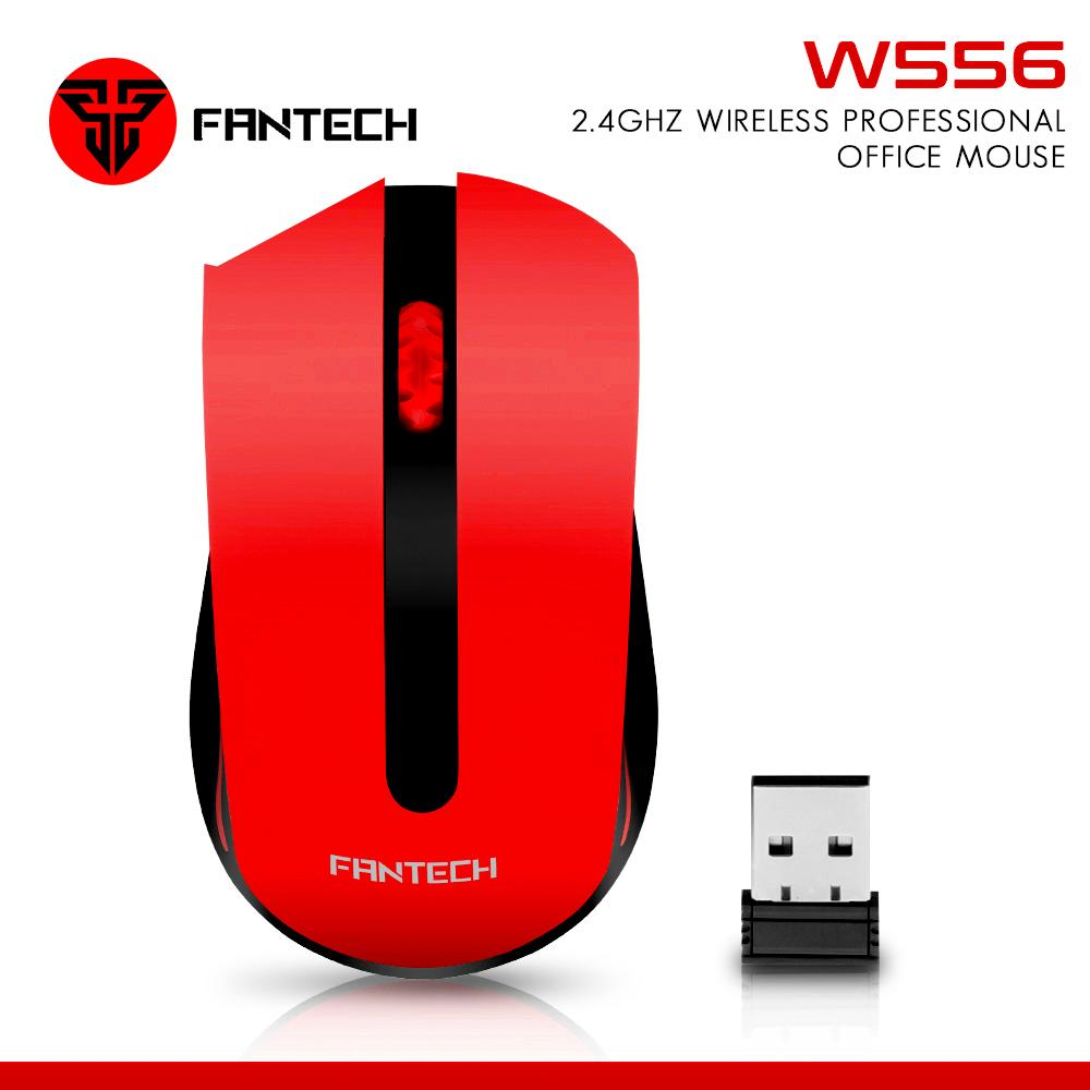 Buy Sell Cheapest Mouse Fantech Wireless Best Quality Product W556 Mousepad Mp25 24ghz Professional Office Red Black