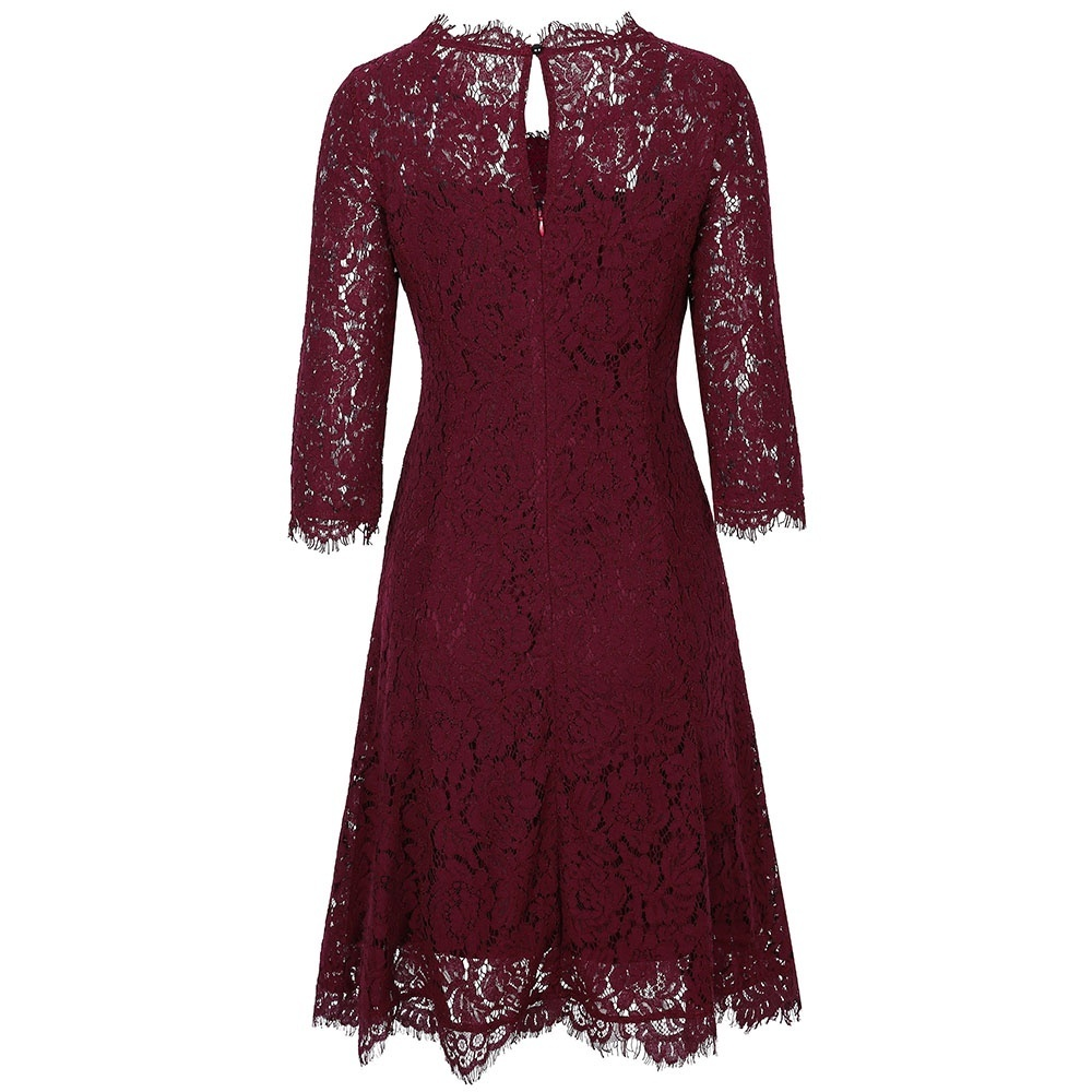 Product Details. Style, Vintage. Material, Lace. Silhouette, A-Line. Dresses Length, Knee-Length