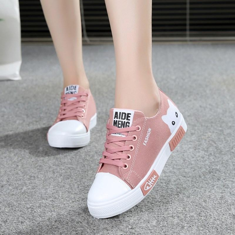 2019 musim gugur model baru rendah kanvas sepatu wanita sol datar anak-anak sepatu sneaker ...