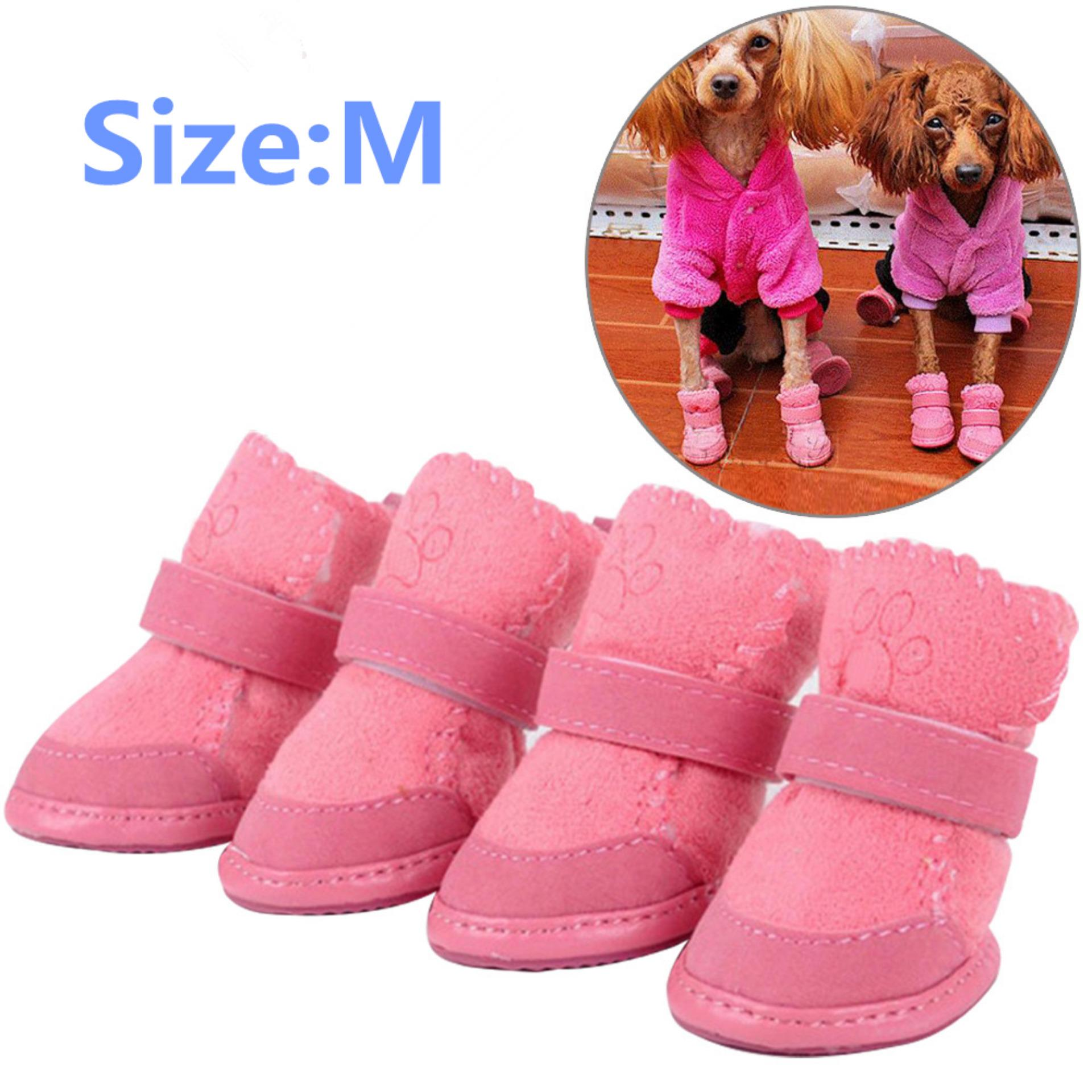 YBC Cute Chihuahua Dog Shoes Small Dogs Pet Shoes Puppy Warm Boots - intl