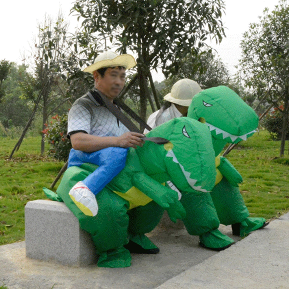 Lacking in ideas for your fancy dress party  Why not come to this walking  inflatable dinosaur costume 8516b1b926cc