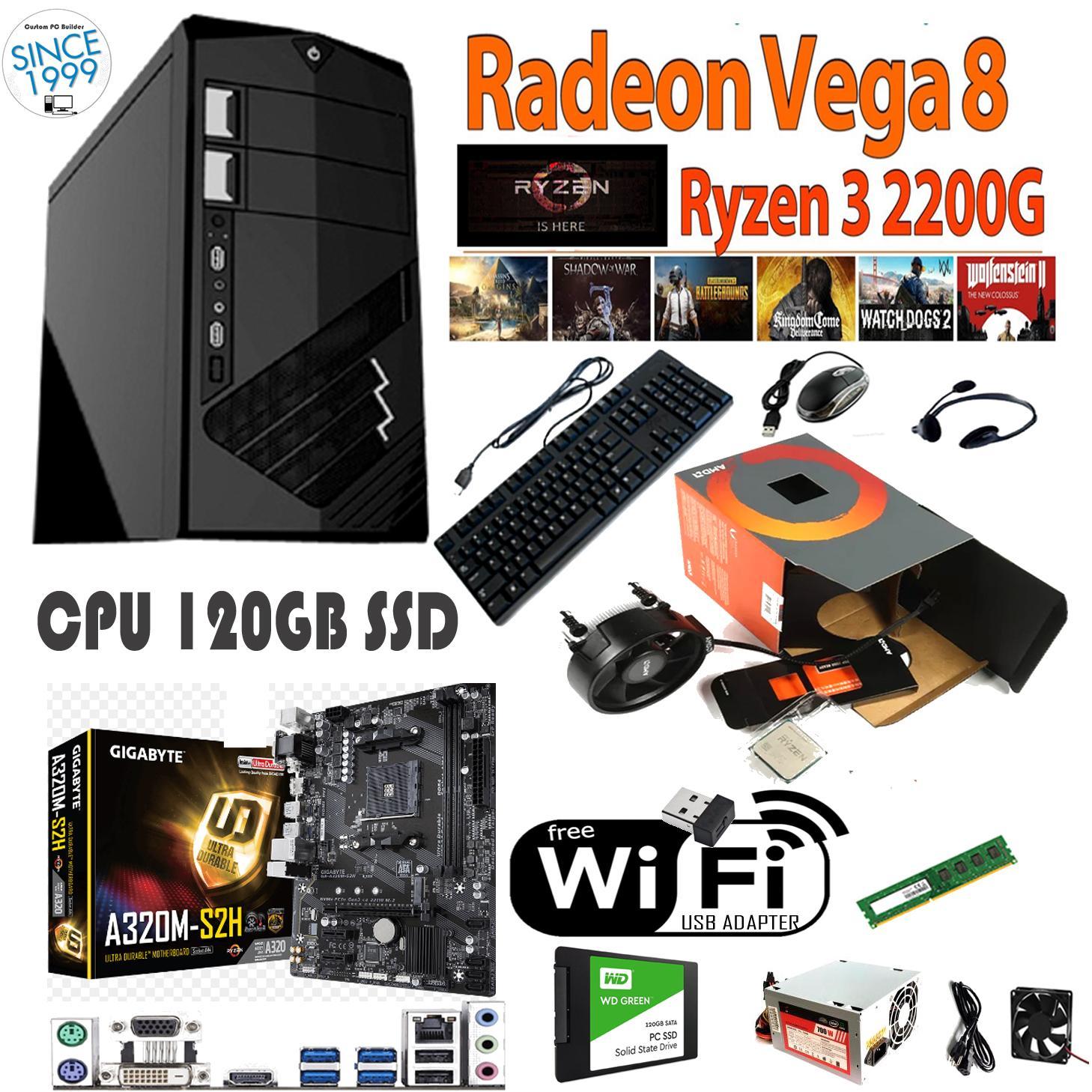Gigabyte Cpu 120gb Ssd Amd Ryzen 3 2200g Quad Core 3 5 Ghz Apu