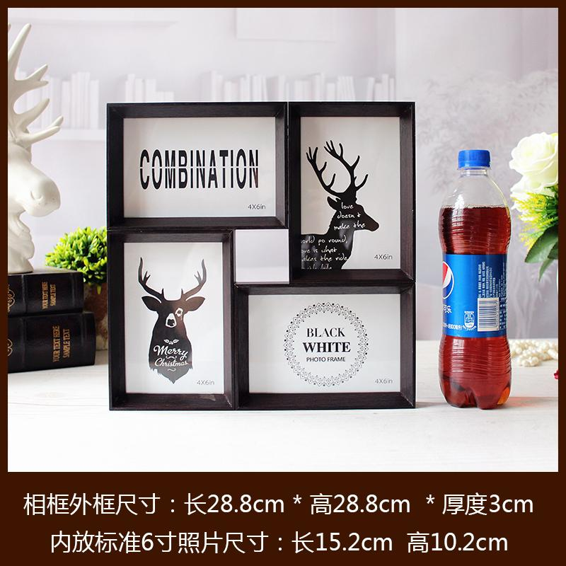 Creative Frame 4 Frame 6-Inch Tabletop Wall Dual-Head Combination Frame Spliced Joined Bodies Wall American like Frame Photo Frame